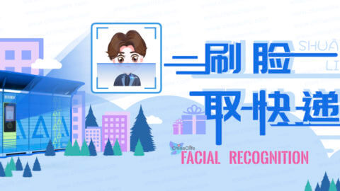 China Facial Recognition Unlocking Parcels, Shua Lian Qu Kuai Di