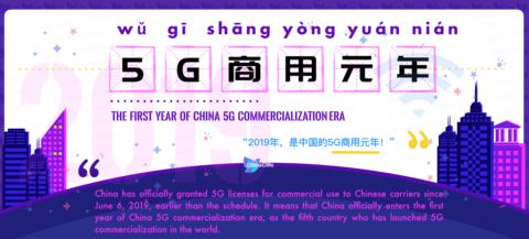 Learn Chinese Word Wu Ji Shang Yong Yuan Nian 5G商用元年 wǔ jī shāng yòng yuán nián