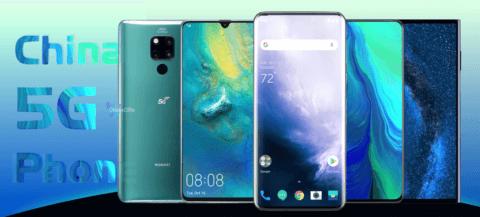 Chinese 5G mobile phone 2019, Chinese 5G mobile phones, early Chinese 5G phones list, China 5G mobile phone list