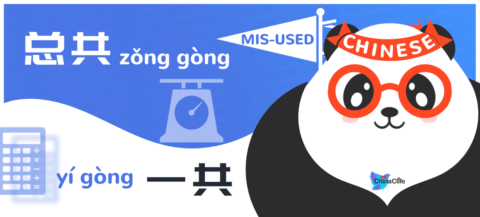 Distinguish Misused Chinese Adverbs 总共 vs 一共