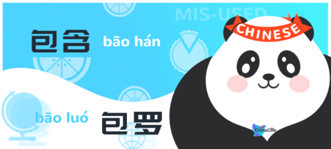 Misused Chinese Verbs 包含 vs 包罗