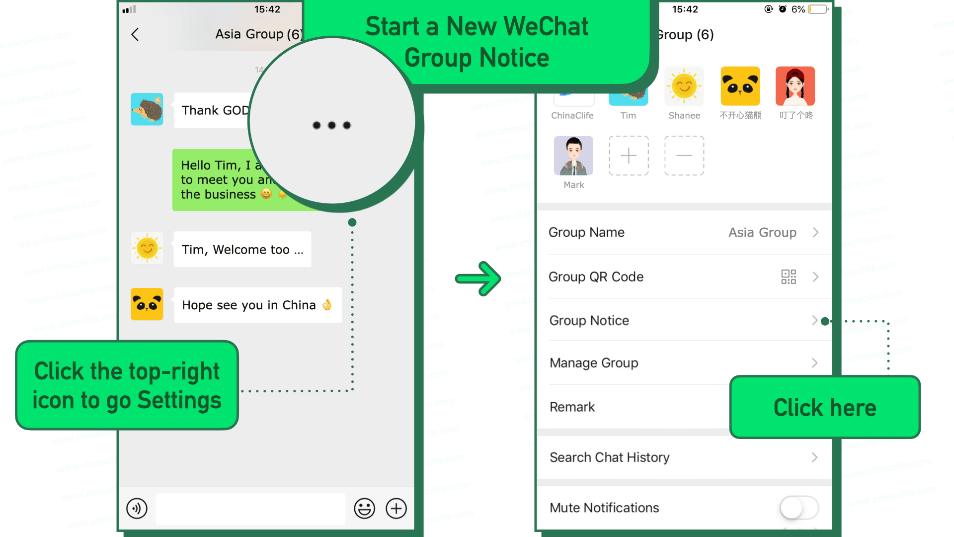 Use WeChat Group Notice to Notify All Group Members