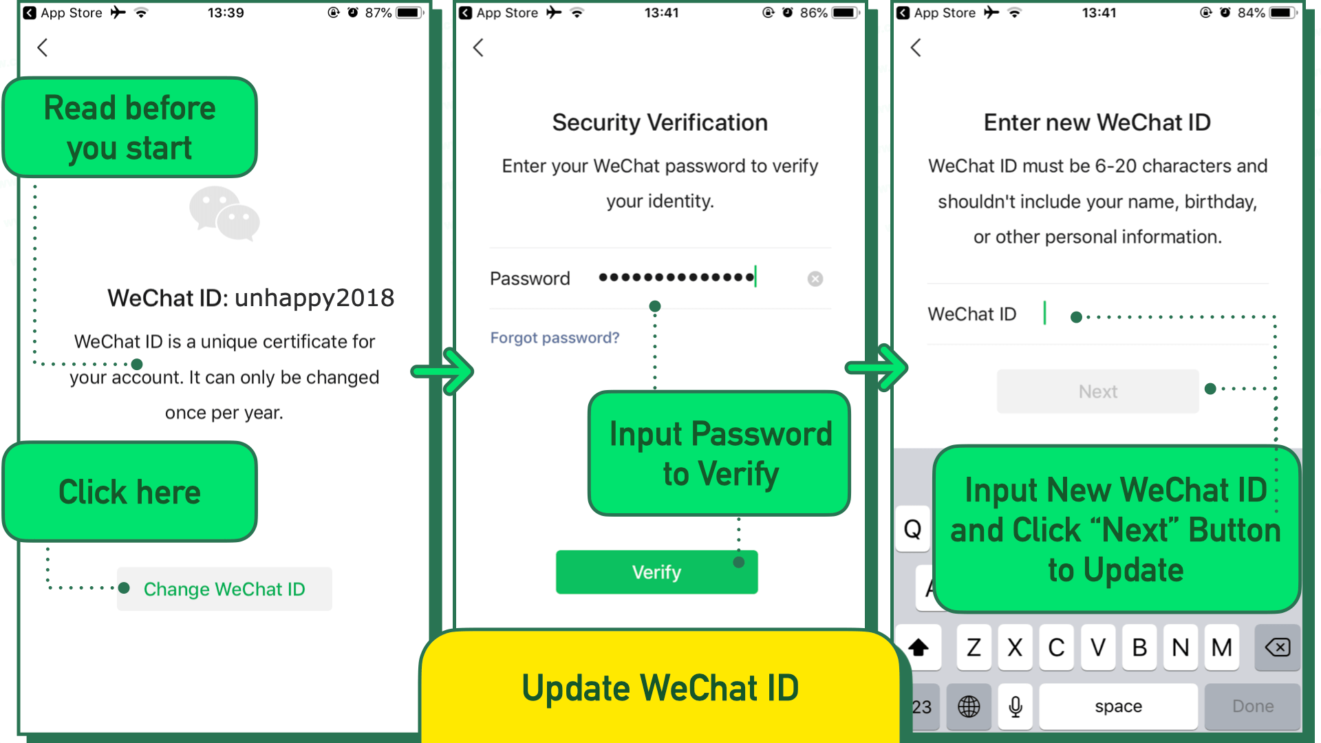 How to Change and update WeChat ID 2020