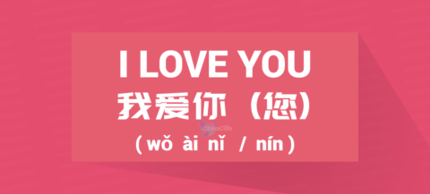 Chinese Word for I Love You, Chinese Phrase for I Love You, Chinese Sentence for I Love You or I Love U, Loving You in Chinese