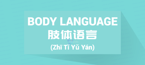 Chinese Word for Body Language Stories