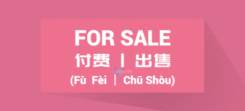 Chinese Word for For Sale